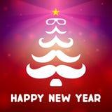 Árbol de navidad con un bigote Fotos de archivo libres de regalías