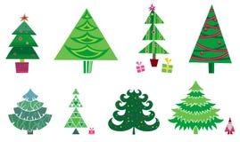 Árbol de navidad - conjunto del vector Fotografía de archivo libre de regalías