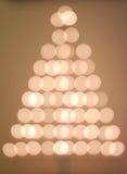 Árbol de navidad de Bokeh Imagen de archivo