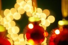 Árbol de navidad de Bokeh Fotos de archivo