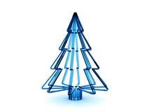 árbol de navidad de cristal azul 3D Fotografía de archivo