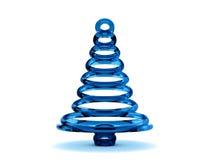 árbol de navidad de cristal azul 3D Imagen de archivo libre de regalías