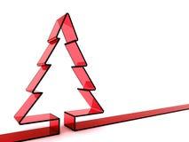 árbol de navidad de cristal rojo 3D Imagen de archivo libre de regalías