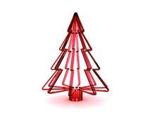 árbol de navidad de cristal rojo 3D Foto de archivo