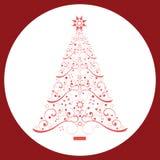 Árbol de navidad de la bobina stock de ilustración