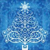 Árbol de navidad de la bobina ilustración del vector
