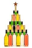 Árbol de navidad de la botella de vino Imagen de archivo libre de regalías
