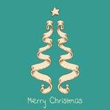 Árbol de navidad de la cinta Fotos de archivo