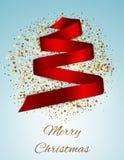 Árbol de navidad de la cinta de satén Imagen de archivo