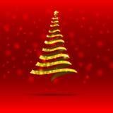 árbol de navidad de la cinta 011-Gold Fotografía de archivo