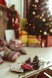 Árbol de navidad de la decoración de la Navidad Fotografía de archivo libre de regalías
