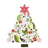 Árbol de navidad de la diversión Fotografía de archivo libre de regalías