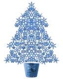 Árbol de navidad de la escama de la nieve stock de ilustración