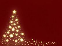 Árbol de navidad de la estrella Fotos de archivo libres de regalías