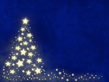 Árbol de navidad de la estrella Fotografía de archivo