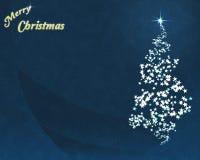 Árbol de navidad de la estrella azul Fotos de archivo libres de regalías