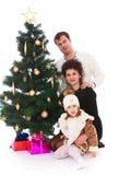 Árbol de navidad de la familia Fotos de archivo