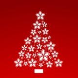 Árbol de navidad de la flor de la poinsetia Imagen de archivo