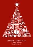 Árbol de navidad de la industria de propiedades inmobiliarias Foto de archivo libre de regalías