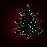 Árbol de navidad de la luz de la estrella Foto de archivo libre de regalías