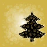 Árbol de navidad de la luz de la estrella Fotografía de archivo libre de regalías
