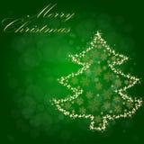 Árbol de navidad de la luz de la estrella Imágenes de archivo libres de regalías