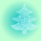 Árbol de navidad de la luz de la estrella Fotos de archivo libres de regalías