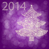 Árbol de navidad de la luz de la estrella Imagen de archivo