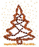 Árbol de navidad de la nuez Foto de archivo