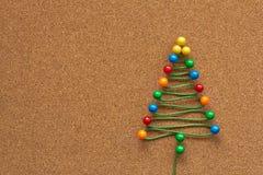 Árbol de navidad de la oficina Imágenes de archivo libres de regalías