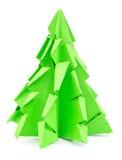Árbol de navidad de la papiroflexia aislado Foto de archivo