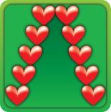 Árbol de navidad de la tarjeta del día de San Valentín Imagenes de archivo