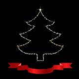 Árbol de navidad de las estrellas Imágenes de archivo libres de regalías