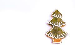 Árbol de navidad de las galletas del pan de jengibre Foto de archivo