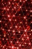 Árbol de navidad de las luces rojas Imágenes de archivo libres de regalías