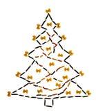 Árbol de navidad de las pastas Imagen de archivo libre de regalías