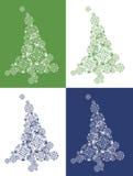 Árbol de navidad de los algodones Foto de archivo