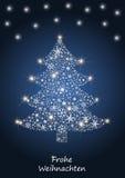 Árbol de navidad de los copos de nieve stock de ilustración