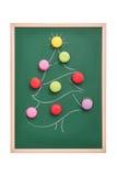 Árbol de navidad de los macarrones Fotografía de archivo