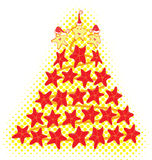 Árbol de navidad de los pescados de la estrella Foto de archivo libre de regalías