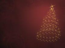 Árbol de navidad de luces Fotos de archivo