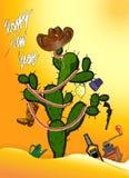 Árbol de navidad de México del cactus Imagen de archivo libre de regalías
