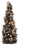 Árbol de navidad de Miniture adornado foto de archivo