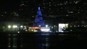 Árbol de navidad de Nápoles almacen de video