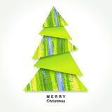 Árbol de navidad de Origami stock de ilustración