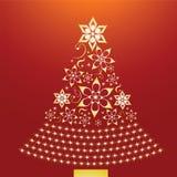 Árbol de navidad de oro ilustración del vector