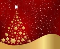 Árbol de navidad de oro stock de ilustración
