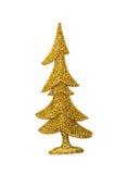 Árbol de navidad de oro fotografía de archivo