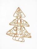 Árbol de navidad de oro Imagen de archivo libre de regalías