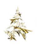 Árbol de navidad de oro Foto de archivo libre de regalías